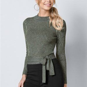 Venus Wrap Metallic Sweater